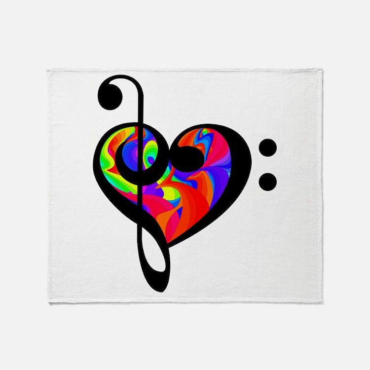 Rainbow clef Throw Blanket
