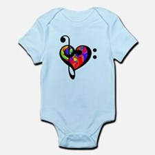 Rainbow clef Body Suit