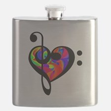 Rainbow clef Flask
