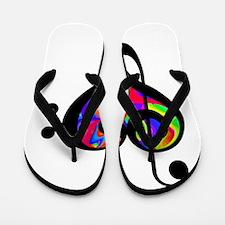 Rainbow clef Flip Flops