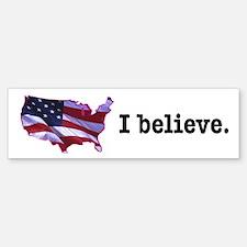 I Believe in America Bumper Bumper Bumper Sticker