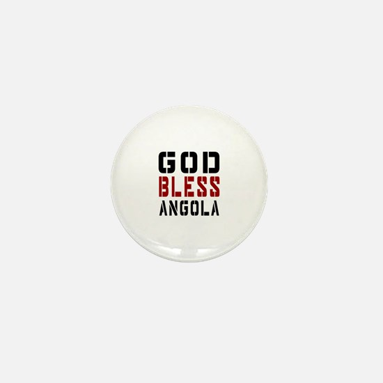 God Bless Angola Mini Button