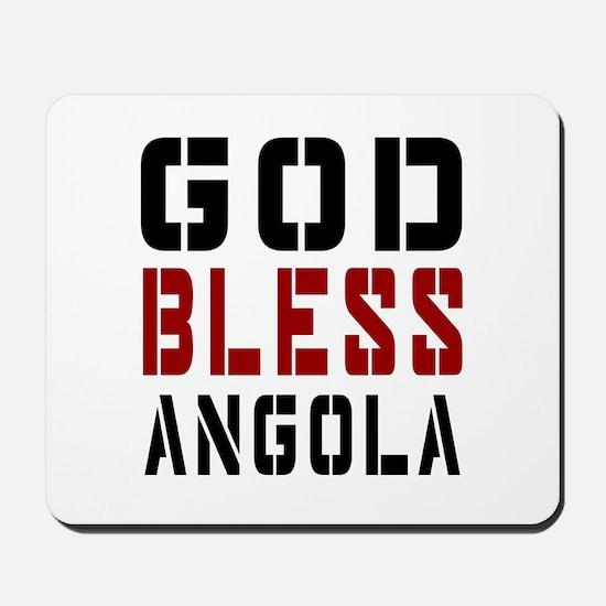 God Bless Angola Mousepad