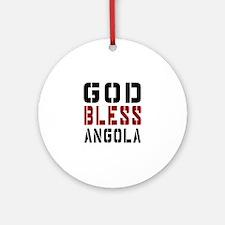 God Bless Angola Round Ornament