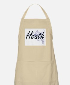 Heath surname artistic design with Flowers Apron