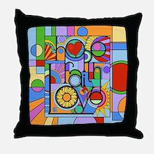 Hope, Faith, Love Throw Pillow
