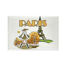 Paris Woman Rectangle Magnet