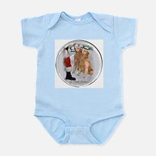 Golden Retriever Christmas Infant Bodysuit