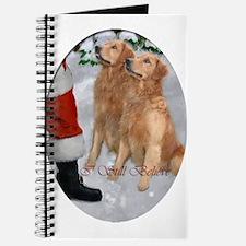 Golden Retriever Christmas Journal