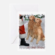 Golden Retriever Christmas Greeting Cards (Pk of 2