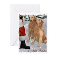 Golden Retriever Christmas Greeting Card