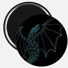 Aqua Draon on Black Magnet
