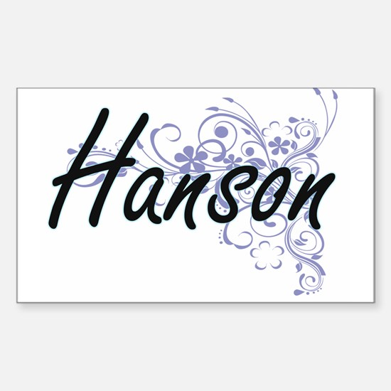 Hanson surname artistic design with Flower Decal