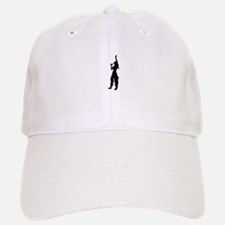 Pop girl singing silhouette Baseball Baseball Cap