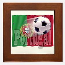 Soccer Flag Portugal Framed Tile