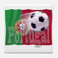 Soccer Flag Portugal Tile Coaster