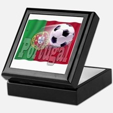 Soccer Flag Portugal Keepsake Box
