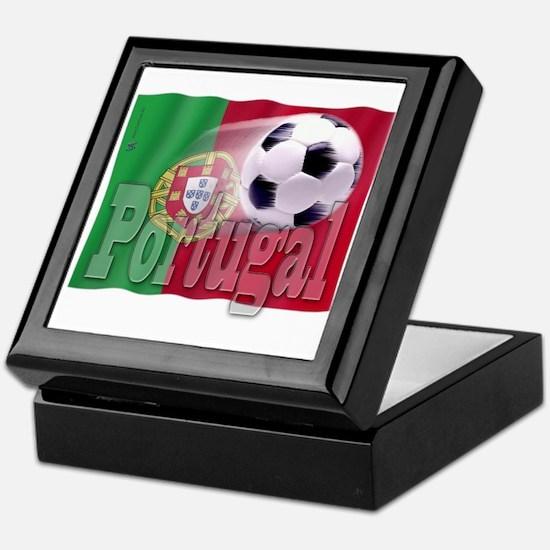 Soccer Flag Portugal Keepsake Box