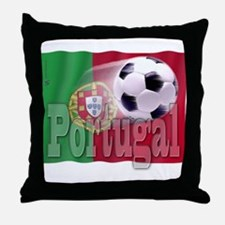 Soccer Flag Portugal Throw Pillow