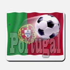 Soccer Flag Portugal Mousepad