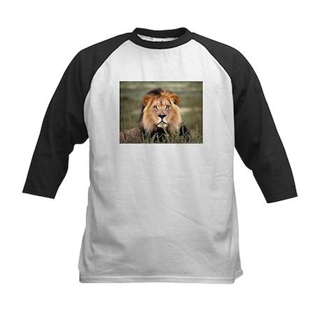 Male African lion Kids Baseball Jersey