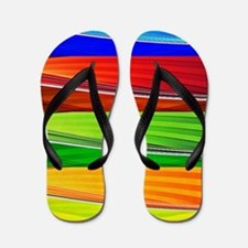 fields of bright colors Flip Flops