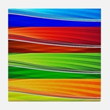 fields of bright colors Tile Coaster