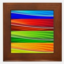 fields of bright colors Framed Tile