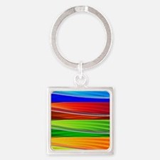 fields of bright colors Keychains