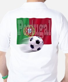 Soccer Flag Portugal (B) Golf Shirt