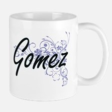 Gomez surname artistic design with Flowers Mugs