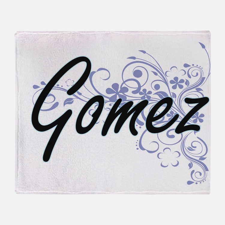 Gomez surname artistic design with F Throw Blanket