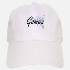 Gomez surname artistic design with Flowers Baseball Baseball Cap