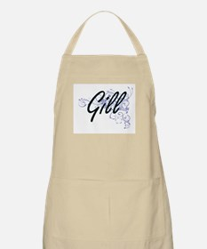 Gill surname artistic design with Flowers Apron
