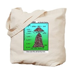 #1 Fits-all family tree Tote Bag
