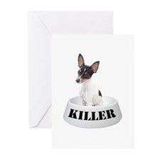 Killer Toy Fox Terrier Greeting Cards (Package of