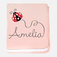 Ladybug Amelia Baby Blanket