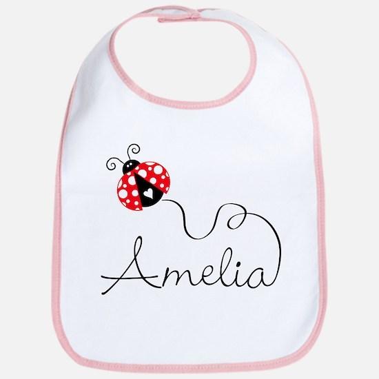 Ladybug Amelia Bib