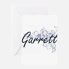 Garrett surname artistic design wit Greeting Cards