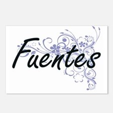 Fuentes surname artistic Postcards (Package of 8)