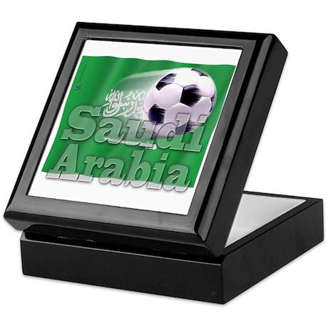 Soccer Flag Saudi Arabia Keepsake Box