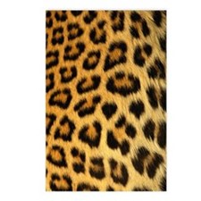 Leopard skin print Postcards (Package of 8)