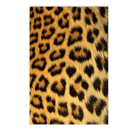 Leopard skin print Postcards (Package of 8)