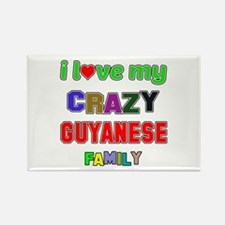 I love my crazy Guyanese family Rectangle Magnet