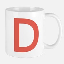 Big Red Letter Mugs