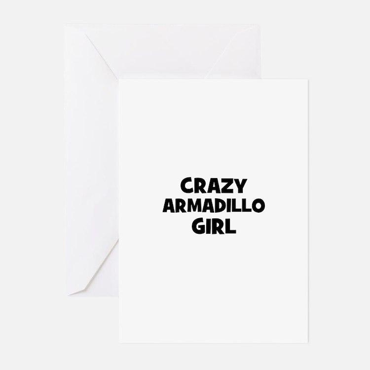 crazy armadillo girl Greeting Cards (Pk of 10)