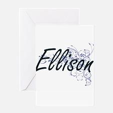 Ellison surname artistic design wit Greeting Cards