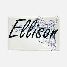 Ellison surname artistic design with Flowe Magnets