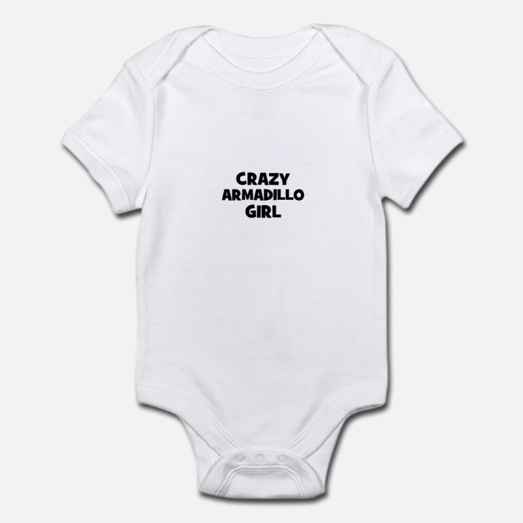 crazy armadillo girl Infant Bodysuit