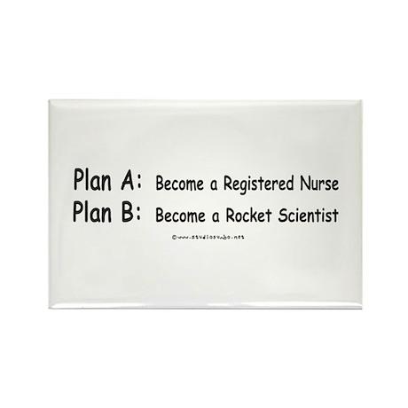 Plan B Rocket Scientist Rectangle Magnet (100 pack